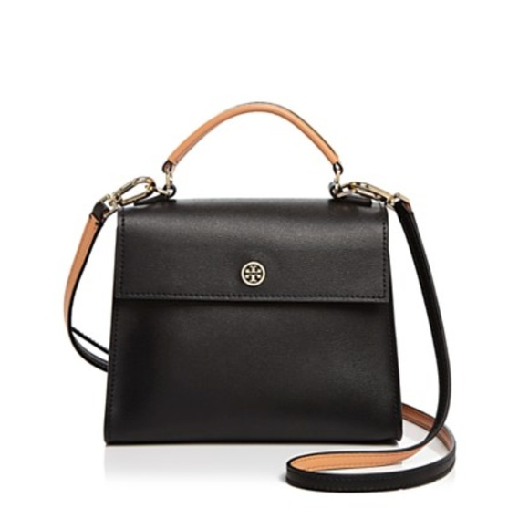 e6aef482be9b used Tory Burch PARKER COLOR-BLOCK SMALL SATCHEL. M 5ae8db8185e605ee19e7a71b